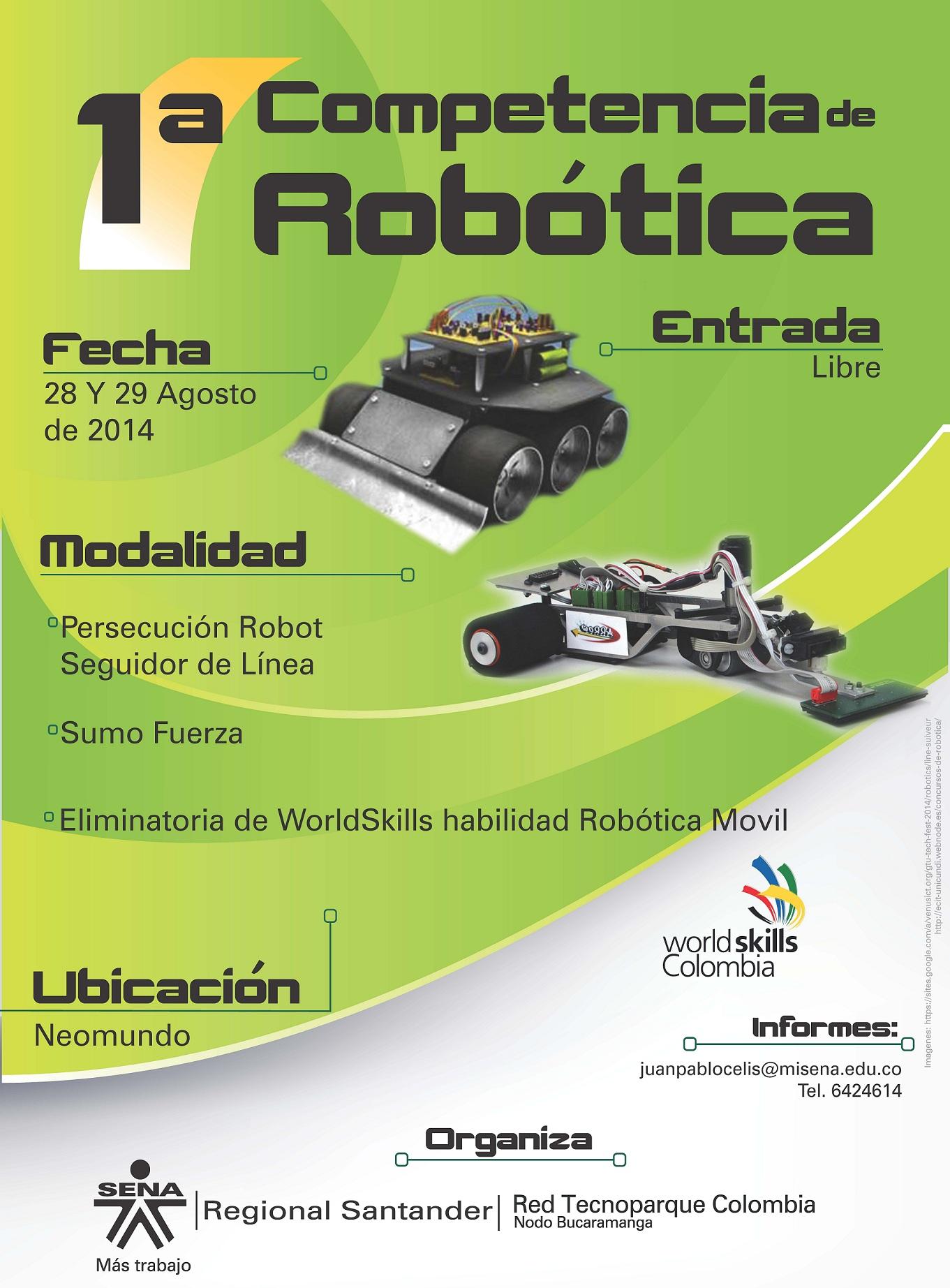 1a competencia de Robótica - Tecnoparque Bucaramanga