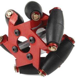 Omniwheel Mecano - Rueda Omnidireccional roja 54mm (unidad)