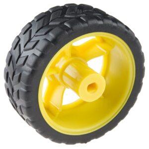 Rueda 65 mm (neumático de caucho, par)