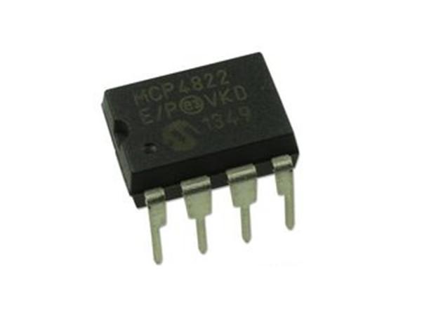 MCP4822-E/P conversor Digital a análogo