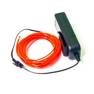 El wire cable de luz rojo