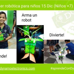 Taller Aprende a Armar un robot (Niños +7)