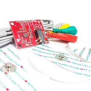 Kit ECG AD8232 con electrodos
