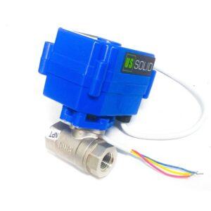 "electro válvula motorizada 9-24 V DC 1/4"""