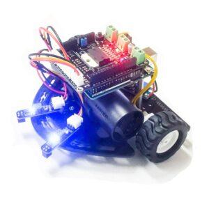 Dynabot II batería : Robot seguidor línea avanzado Arduino