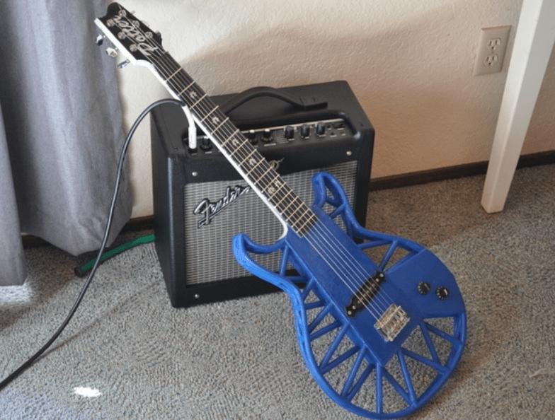 guitarra en 3D
